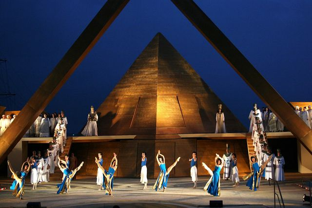 Aida, Ostseefestspiele (Open air festival), set design